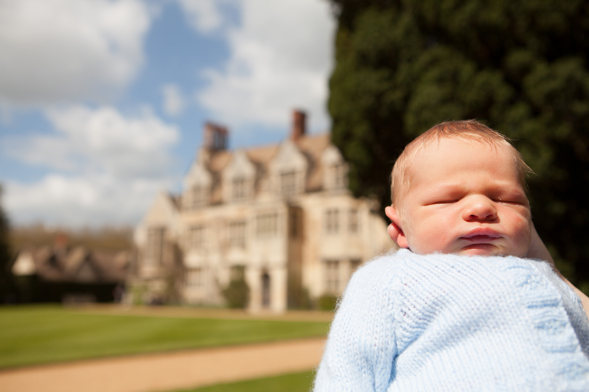 Freddie not appreciating Anglesey Abbey