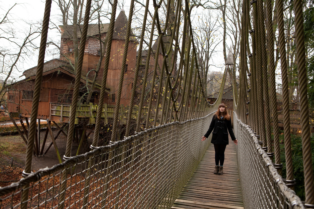 Alnwick Treehouse bridge