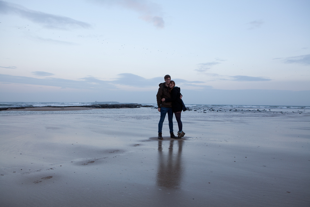 Tom & Emily Bamburgh beach
