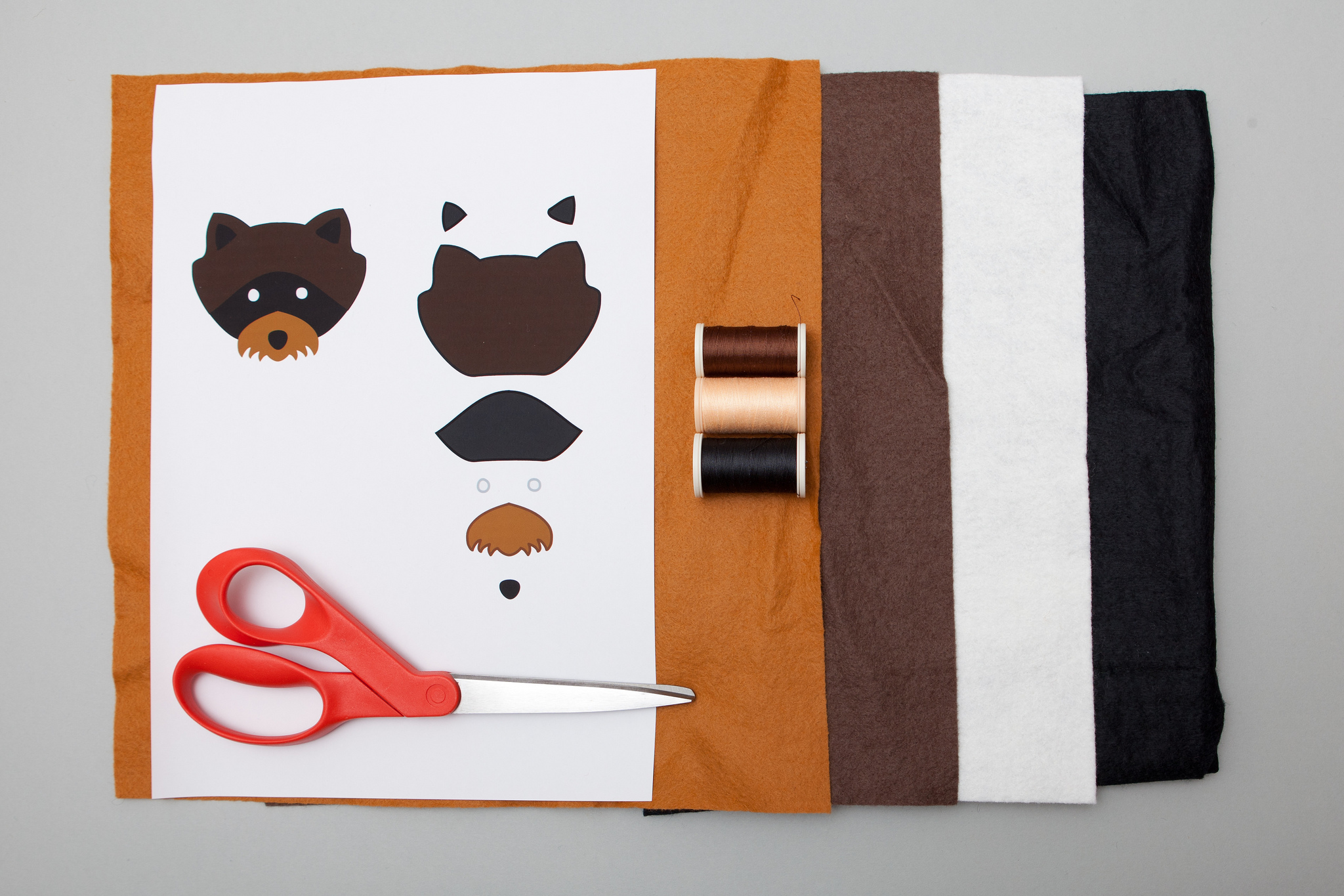 Raccoon patch - Felt and paper